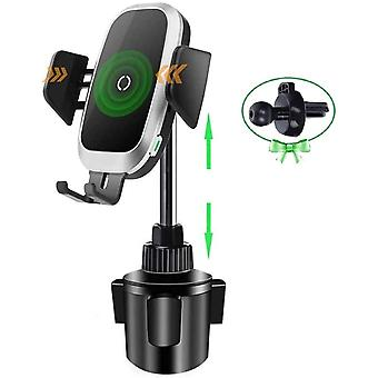 FengChun Qi Caricatore per Telefono Wireless per Auto, Supporto per Tazza Supporto di Ricarica per