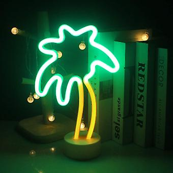 Kokosnussbaum Neonlicht mit Basis LED Neonpalme USB/Batterie Licht Dekoration Nachtlicht