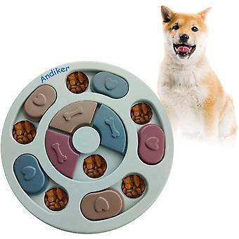 Rundes Hundespielzeug, Puzzle-Spielzeug, langlebig, interaktives Hundespielzeug, Hunde-Gehirnspiele,