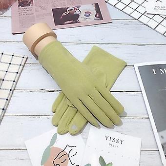 Gants à ongles tactiles à écran tactile pour la conduite hivernale féminine