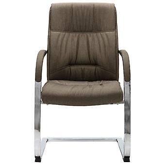 vidaXL cantilever stoel bureaustoel Taupe stof