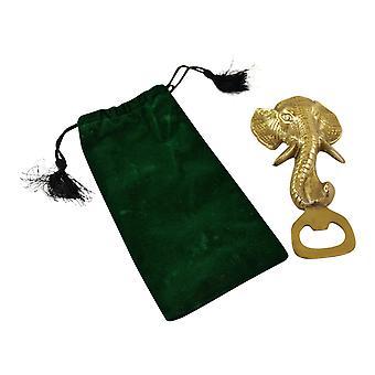 Gold Metal Elephant Huvud Flasköppnare