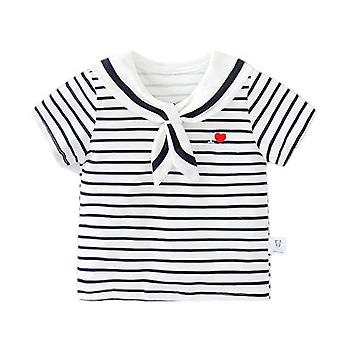 Baby Clothes Navy Short-sleeved T-shirt