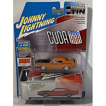 1970 Plymouth AAR Cuda Vitamin C 1:64 with Tin Johnny Lightning JLCT005A