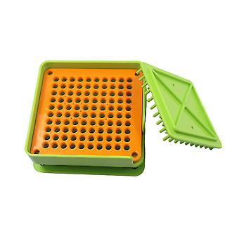 Food Grade 100 Holes Pill Capsule Filling Professional Plate Filling Tool With Powder Block Plate Board (light Green)