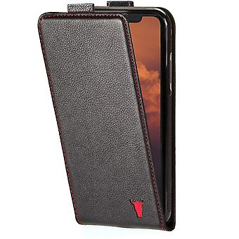 HanFei Phone Case Compatible With iPhone 12 Mini - Quality, Genuine Leather With Card Slots and