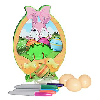 Easter Egg Coloring Kits With 3 Eggs 8 Markers Egg Dye Kit Spinner Machine