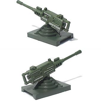 2 stuks leger wapen model simulatie luchtafweergeschut speelgoed 16cm