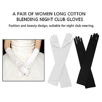 Sexiga kvinnor lång bomull blandning nattklubb handskar lång prom hand varmare handskar