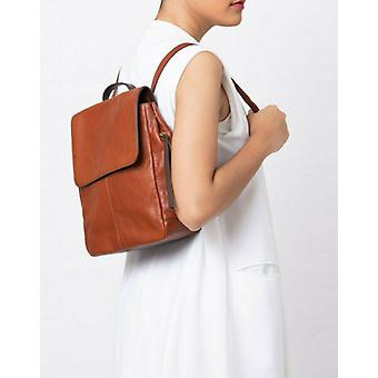 Fossil Claire Brandy Leather Backpack SHB1932213 Brown