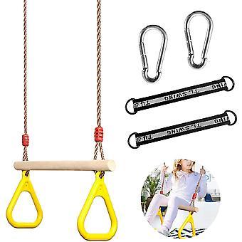 Erwachsenes Trapez,Schaukel Outdoor zubehör,Trapezschaukel,Multifunktions Kinderholz Trapeze,Trapez