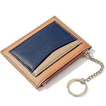 Vícedílná pozice držáku zip karty klíčový řetěz malá peněženka Dámská peněženka na mince (Orange)