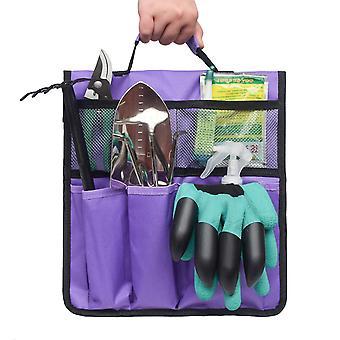 Foldable Portable Garden Tool Bag Organizer(Purple)