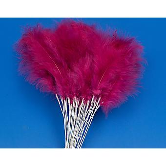 36 Fuschia Pink 28cm Fjer Spray Picks til Blomster og håndværk