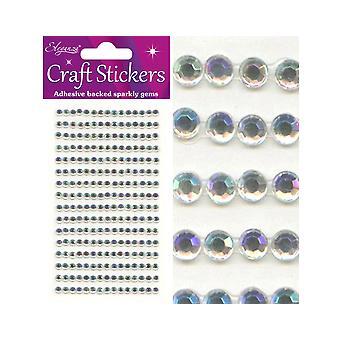 240 Iriserende Selvklebende 4mm Craft Juveler | Diamante Edelstener Utsmykning