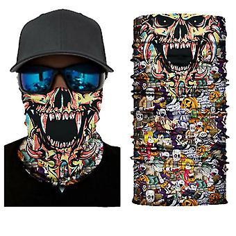 (3) Sturmhaube Gesichtsbedeckung Schal Snood Hals Tube Bandana Radfahren Biker Snood Outdoor