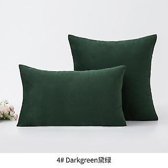 Nordic style velvet solid color series sofa plush pillowcase without pillow core shams