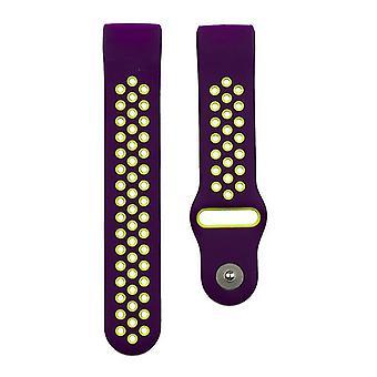 Pulsera compatible con Fitbit Charge 3 (Púrpura)
