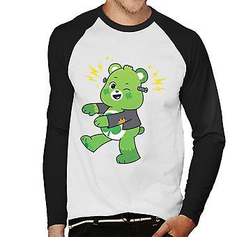 Care Bears UTM Halloween Onnea Karhu Frankenstein Miesten pesäpallo Pitkähihainen T-paita