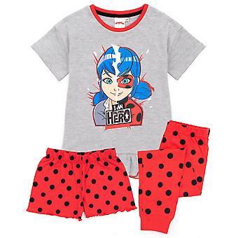 Csodálatos pizsama lányoknak | Gyerekek Katicabogár Szuperhős Cosplay póló hosszú vagy rövidnadrág fenék Pjs | Pöttyök Öltöztetős áru