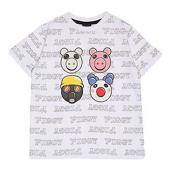 Official Kids Piggy T-Shirt Characters Boys Girls Roblox