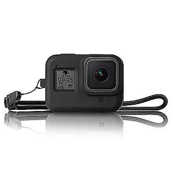 Silica Gel Shockproof Protective Shell Frame Case for GoPro Hero 8 Black Action Sports Camera