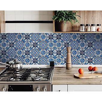"""7""""X 7"""" Blau Multi Mosaik Peel und Stick Fliesen"""