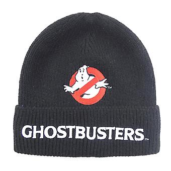 Ghostbusters musta logo beanie hattu