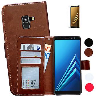 Samsung Galaxy A8 2018-Leather Case/cover