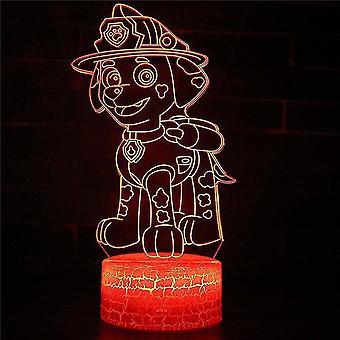 3D luova lamppu 7 väriä optinen vaihtaa kosketusvalo usb ja kaukosäädin art deco tehdä romanttinen lahja #56