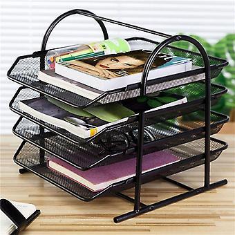 Office A4 Papier Organizer Document File Letter Book Brochure Vullen Lade Rack Rack Carrier Metaal