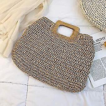 Nyári stílusú trendi rattan szőtt kézi táskák (Brown)