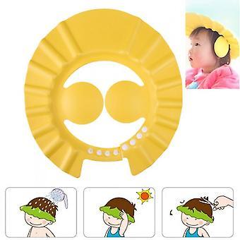 Einstellbare Baby Dusche Caps Kind Kinder Wasserdicht Shampoo Hut Jungen Mädchen Waschen Haare Bad Schild Ohr