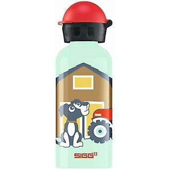 SIGG Farm Dog Drinking bottle 0.4L Non-toxic Light Aluminium - 8730.6