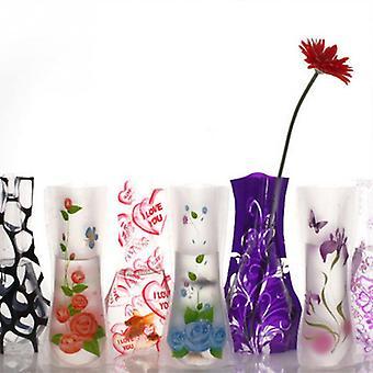 3 stk bærbar miljøvennlig blomst søt sammenleggbar vase