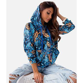 Hoodies Top Bluse Trainingsanzüge Langarm Herbst Winter Casual Pullover Blau