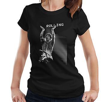 Die Rolling Stones Mick Jagger Rotterdam 1973 Damen T-Shirt