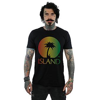 Island Records Men's Distressed Logo T-Shirt