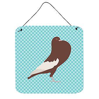 Pouter anglais Pigeon bleu cocher mur ou porte accrocher impressions