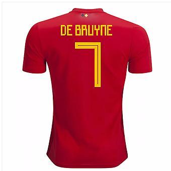 2018-2019 Бельгии Adidas Главная рубашка (де Брёйне 7)