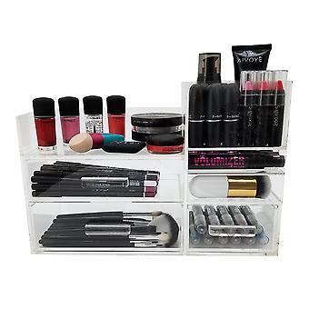 OnDisplay Valentina Luxury käsintehty akryyli kosmetiikka ja meikkaus järjestäjä