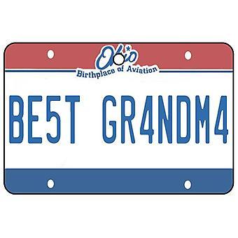 Ohio - Best Grandma License Plate Car Air Freshener