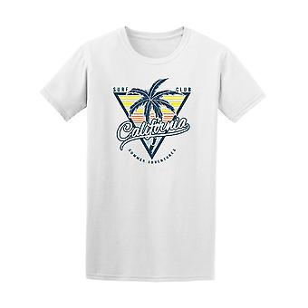 Surf Club California Palm arbres Graphic Tee - Image de Shutterstock