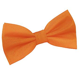 Celosia Orange Solid Check Pre-Tied Bow Tie