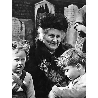 מריה מונטסורי נ' (1870-1952) מחנכת וכרזה לרופא איטלקי הדפסה על ידי האוסף גריינג'ר