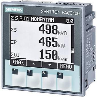 Compteur numérique de montage en rack des appareils de mesure Siemens SENTRON PAC3100 multifonctionnel SENTRON PAC3100 Max. 3 x 480/277 V AC Assemblée dimensions 92 x 92 mm
