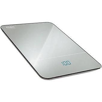 CASO F10 kjøkken skalerer digital vektklasser = 10 kg sølv