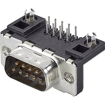 FCI D-SUB D09P13A4GL00LF D-SUB PIN Strip 90 ° antal stifter: 9 Tryk 1 pc (er)