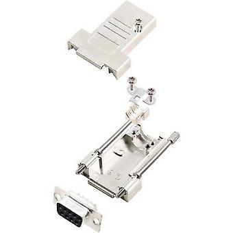 encitech DTSL09-T-JSRG+DMS-K 6355-0040-31 D-SUB receptacle set 180 ° Number of pins: 9 Solder bucket 1 Set