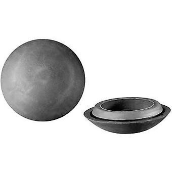 PB kiinnittimen 443 3831 tummanharmaa (Ø x K) 29.2 x 8,9 mm
